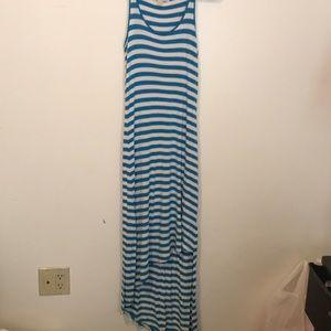 Michael kors blue and white striped dress